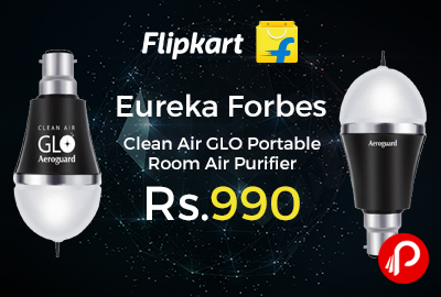 Eureka Forbes Clean Air GLO Portable Room Air Purifier