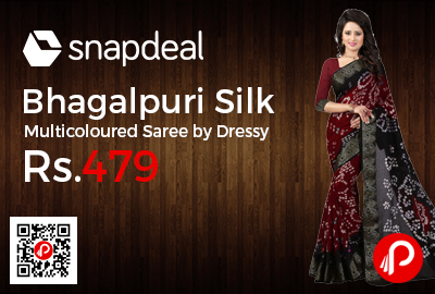 Bhagalpuri Silk Multicoloured Saree