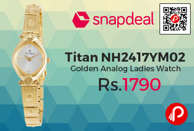 Titan NH2417YM02 Golden Analog Ladies Watch
