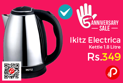 Ikitz Electric Kettle 1.8 Litre