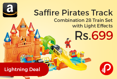 Saffire Pirates Track Combination 28 Train Set with Light Effects
