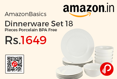 AmazonBasics Dinnerware Set 18