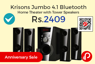Krisons Jumbo 4.1 Bluetooth Home Theater with Tower Speakers