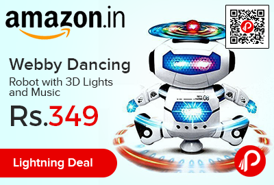Webby Dancing Robot with 3D Lights and Music