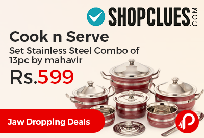 Cook n Serve Set Stainless Steel Combo of 13pc
