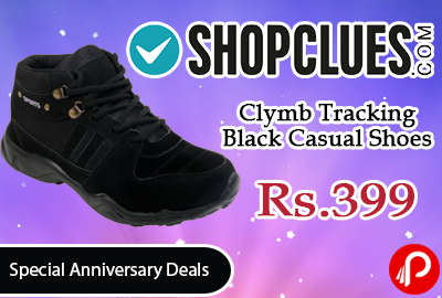 Clymb Tracking Black Casual Shoes