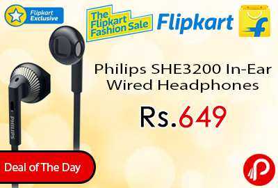 Philips SHE3200 In-Ear Wired Headphones