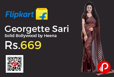 Georgette Sari Solid Bollywood