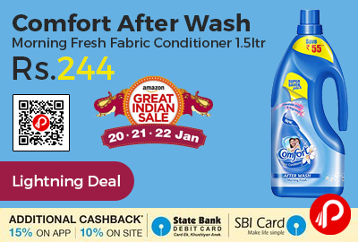 Comfort After Wash Morning Fresh Fabric Conditioner 1.5ltr
