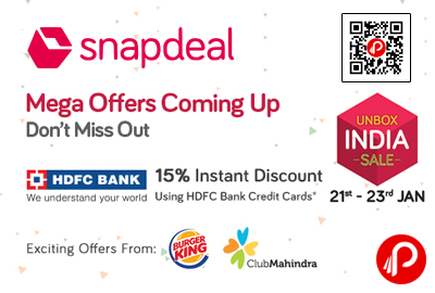 Snapdeal discount coupon hdfc