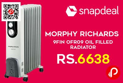 Morphy Richards 9Fin OFR09 Oil Filled Radiator