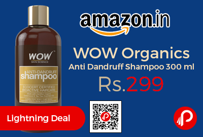 WOW Organics Anti Dandruff Shampoo 300 ml