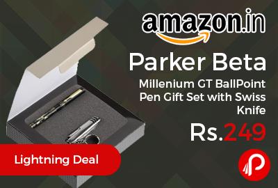 Parker Beta Millenium GT BallPoint Pen Gift Set with Swiss Knife