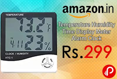 Temperature Humidity Time Display Meter Alarm Clock