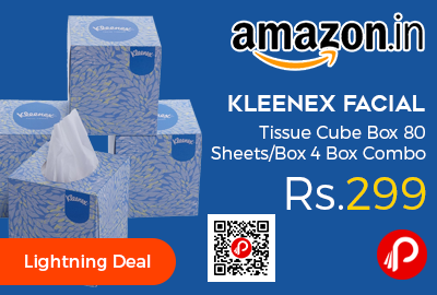 Kleenex Facial Tissue Cube Box