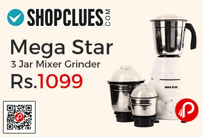 Mega Star 3 Jar Mixer Grinder