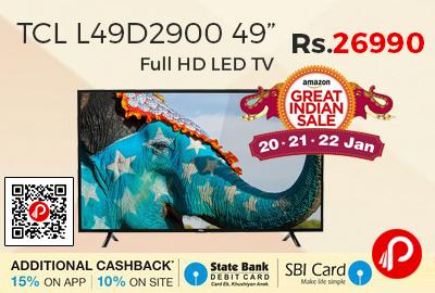 """TCL L49D2900 49"""" Full HD LED TV"""