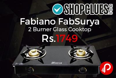 Fabiano FabSurya 2 Burner Glass Cooktop