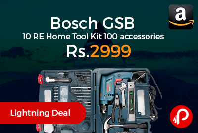 Bosch GSB 10 RE Home Tool Kit 100 accessories