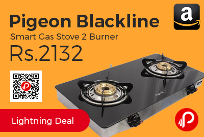 Pigeon Blackline Smart Gas Stove 2 Burner