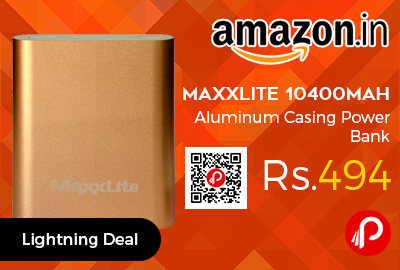 Maxxlite 10400mAh Aluminum Casing Power Bank
