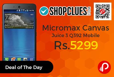 Micromax Canvas Juice 3 Q392 Mobile