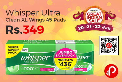 Whisper Ultra Clean XL Wings 45 Pads