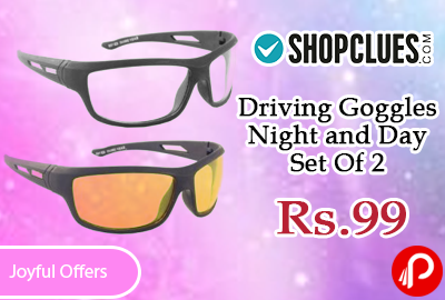 Driving Goggles Night and Day Set Of 2