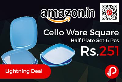 Cello Ware Square Half Plate Set 6 Pcs