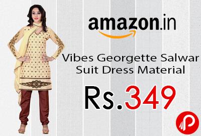 Vibes Georgette Salwar Suit Dress Material