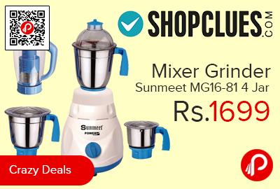 Mixer Grinder Sunmeet MG16-81 4 Jar
