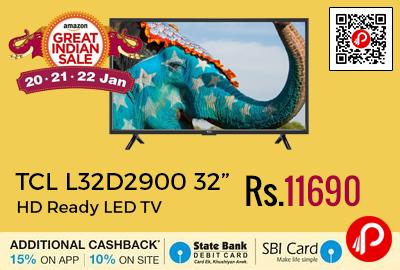 """TCL L32D2900 32"""" HD Ready LED TV"""