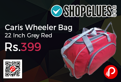 Caris Wheeler Bag 22 Inch Grey Red