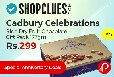 Cadbury Celebrations Rich Dry Fruit Chocolate Gift Pack 177gm