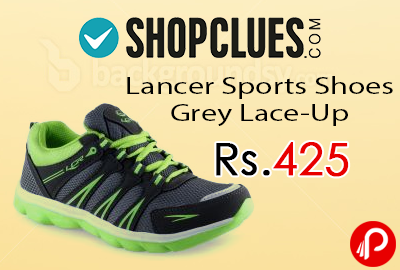 Lancer Sports Shoes Grey Lace-Up