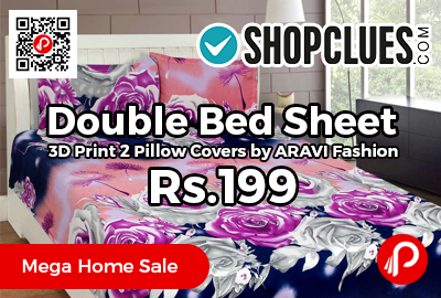 Double Bed Sheet 3D Print 2 Pillow Covers