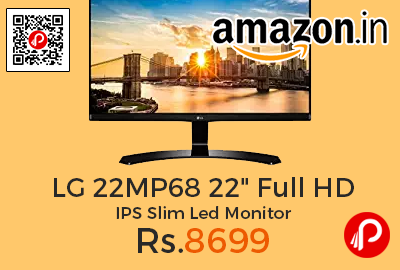 """LG 22MP68 22"""" Full HD IPS Slim Led Monitor"""