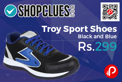 Troy Sport Shoes Black and Blue