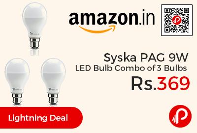 Syska PAG 9W LED Bulb Combo of 3 Bulbs