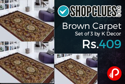 Brown Carpet Set of 3