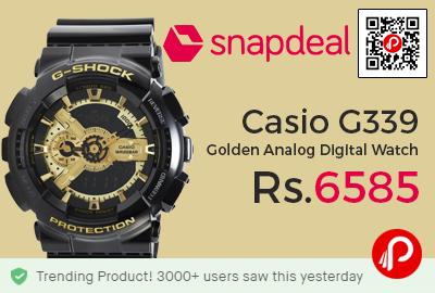 Casio G339 Golden Analog Digital Watch
