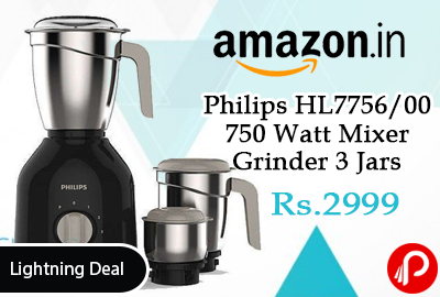 Philips HL7756/00 750 Watt Mixer Grinder 3 Jars