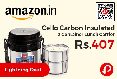 Cello Carbon Insulated 2 Container Lunch Carrier
