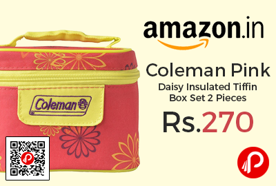 Coleman Pink Daisy Insulated Tiffin Box