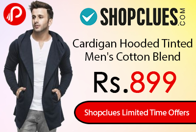 Cardigan Hooded Tinted Men's Cotton Blend