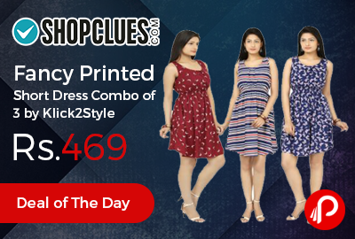 Fancy Printed Short Dress