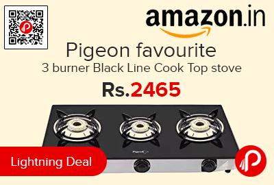 Pigeon favourite 3 burner Black Line Cook Top stove