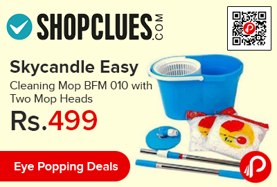 Skycandle Easy Cleaning Mop BFM 010 with Two Mop Heads
