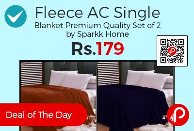 Fleece AC Single Blanket Premium Quality Set of 2