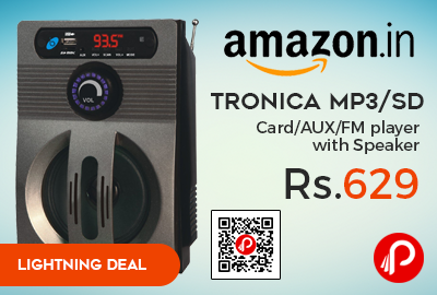 Tronica MP3/SD Card/AUX/FM player with Speaker